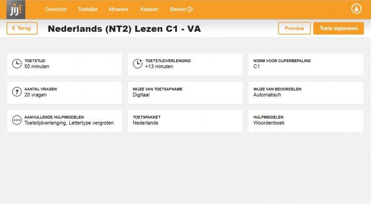 Voorbeeld toets Nederlands JIJ! Leerlingvolgsysteem - JIJ! Toetsing & Training