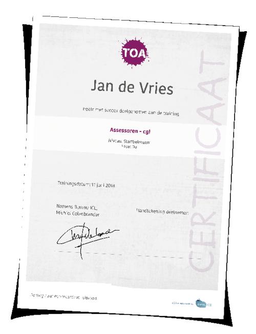 Certificaat cgi training mbo TOA