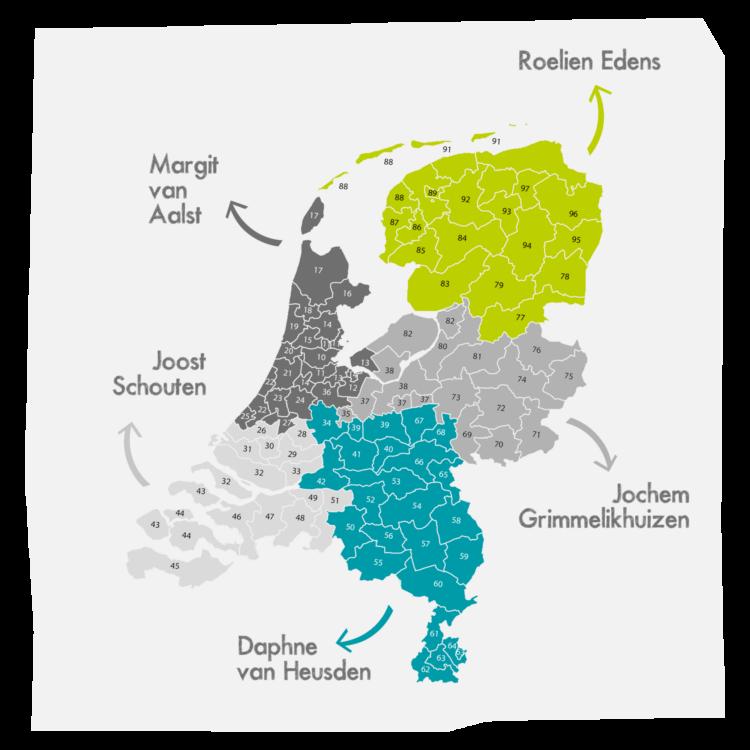 Landkaartje IEP Adviseurs Groot